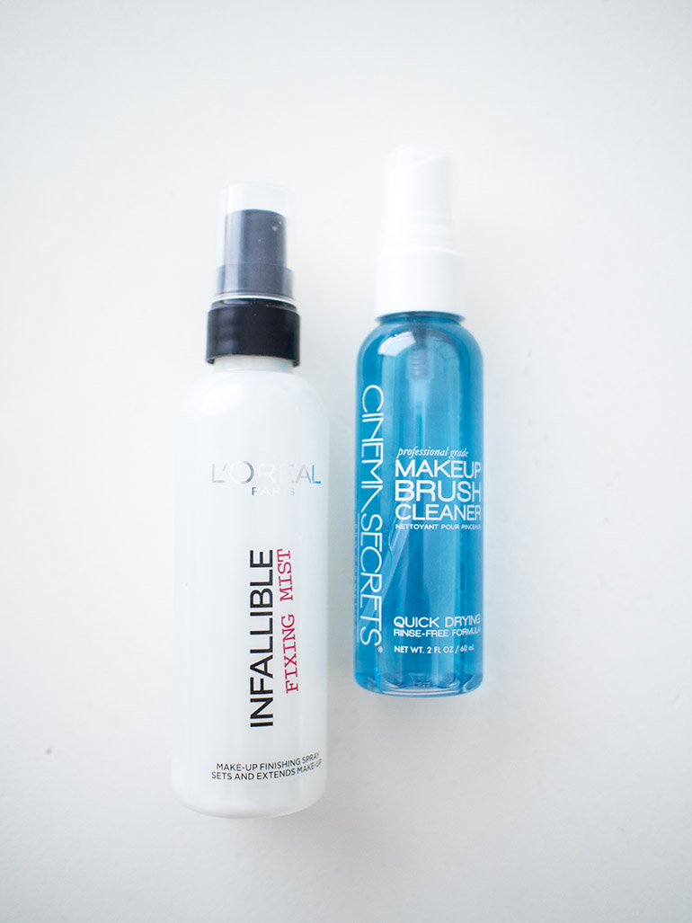 L'Oreal Infallible Fixing Mist Cinema Secrets Makeup Brushes Cleaner