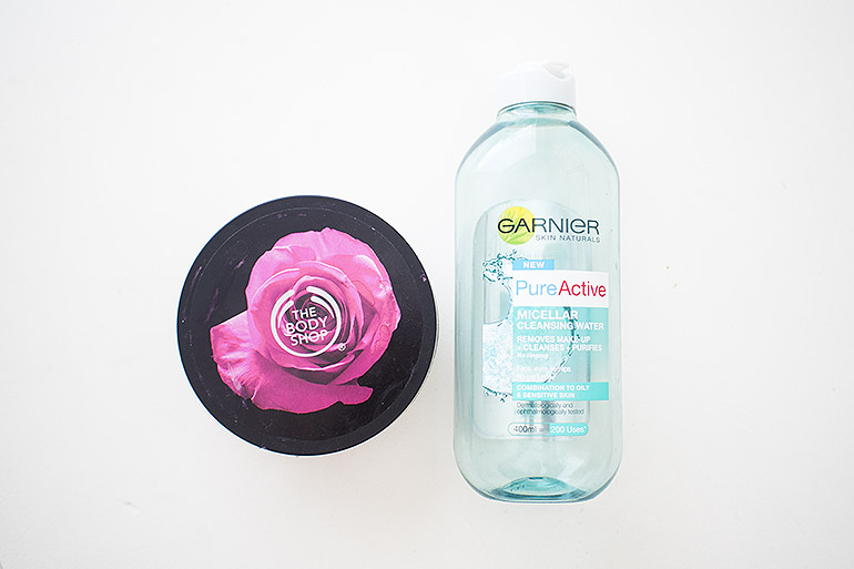 The Body Shop Rose Body Lotion Garnier Micellar water