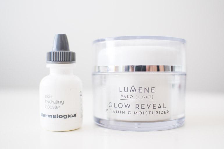 Dermalogica skin hydrating booster Lumene Glow Reveal moisturizer