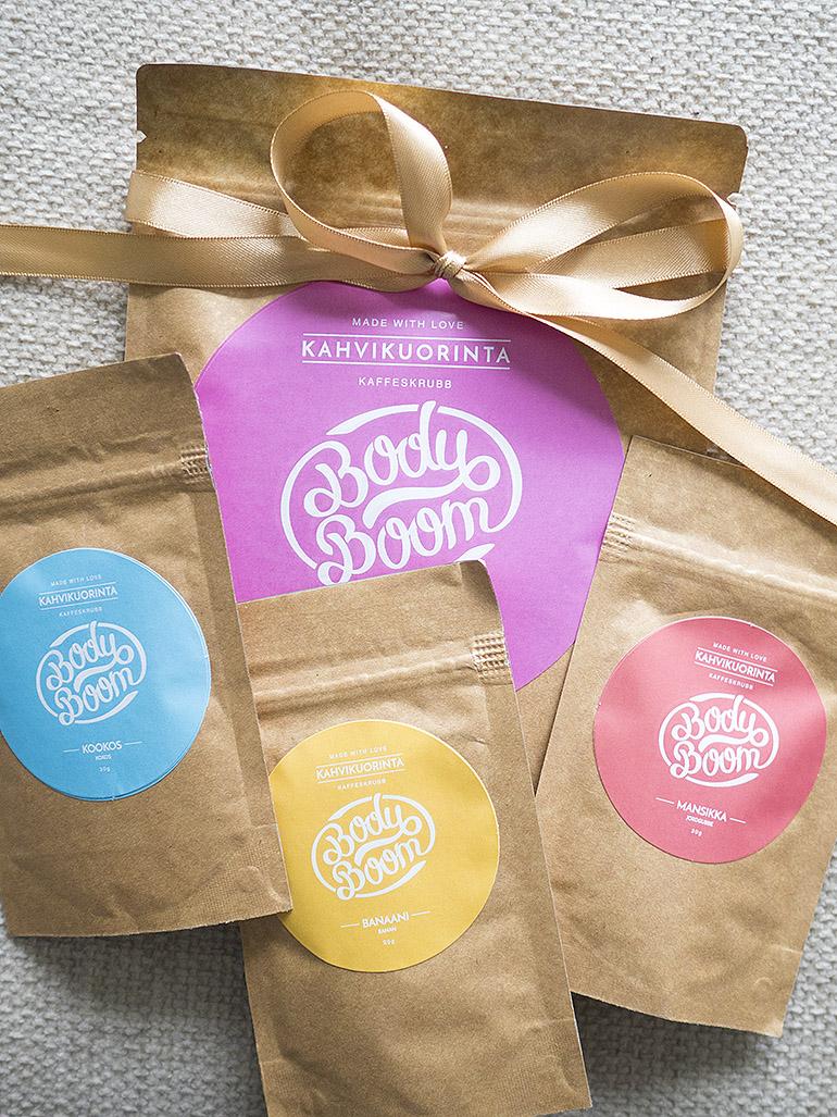 Body Boom kahvikuorinnat