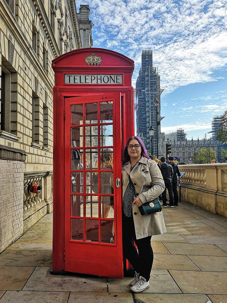 Lontoo Big Ben puhelinkoppi