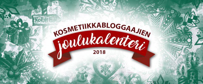 Kosmetiikkabloggaajien joulukalenteri 2018