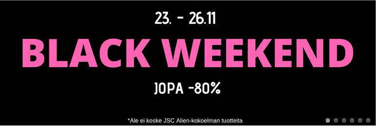 Oletkaunis.fi Black Weekend