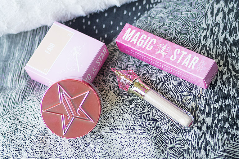Jeffree Star Cosmetics Magic Star -peitevoide ja Magic Star -irtopuuteri