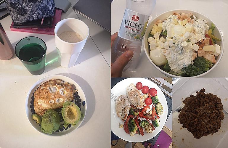Ketogeeninen ruokapäiväkirja viikon ajalta