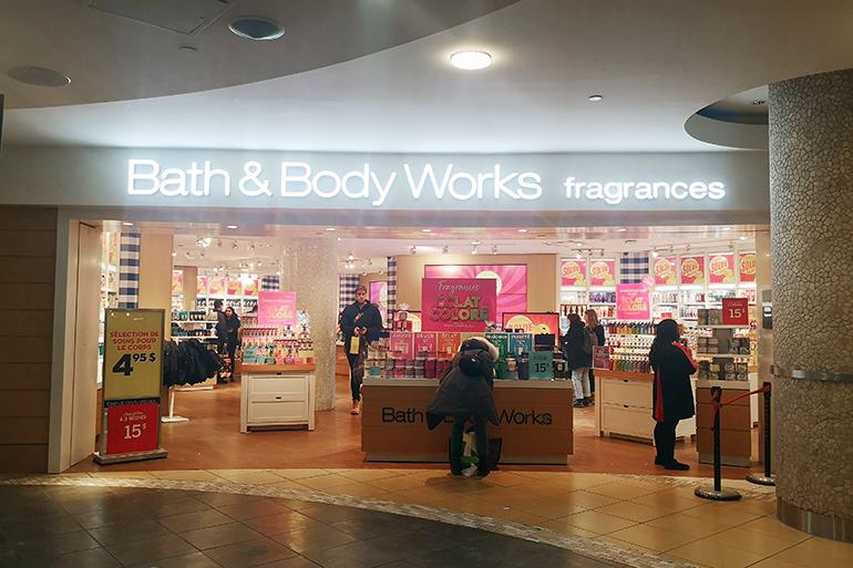 Kosmetiikkashoppailu Montrealissa Bath & Body Works