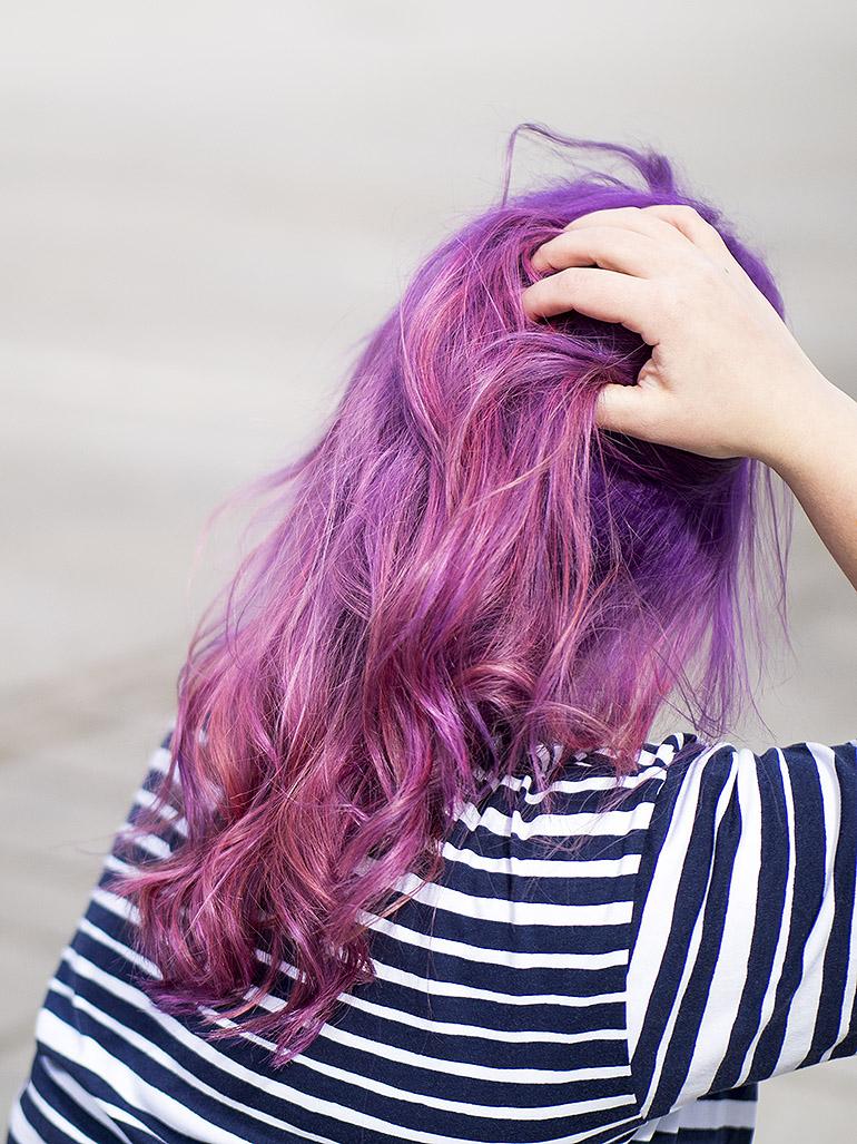 Pink Purple hair Loihtimo Anni Jää