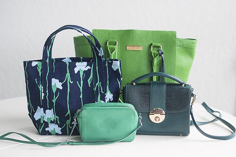 Vihreä laukku Marimekko Viivakukka Mulberry Blossom Pochette Lindex Holly & Whyte
